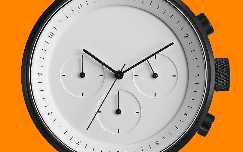 Projects Kiura White Chronograph Watch