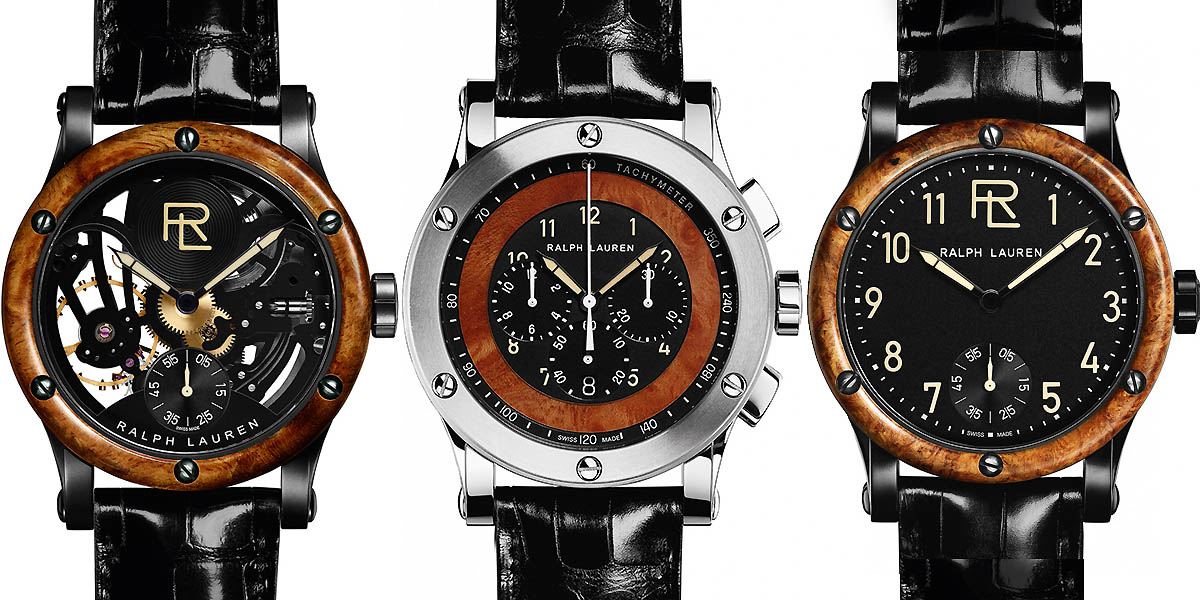 Ralph Lauren Automotive Watch Collection Skeleton Wood Watches
