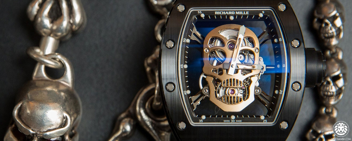 Richard Mille Watch Anish RM 025 Tourbillon Skull Watch