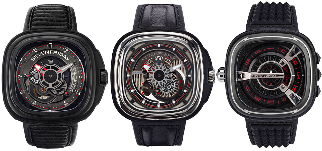 Seven Friday Watches - Racer, Hot Rod, Punk