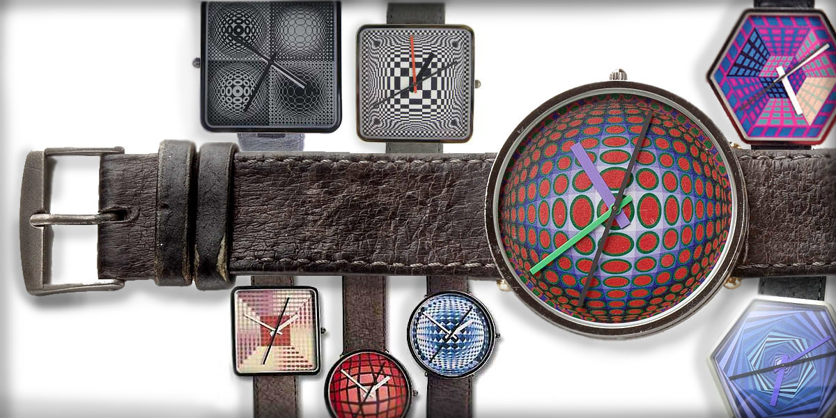 The Artist's Watch by Bulova designed by Victor Vasarely Op Art Pioneer