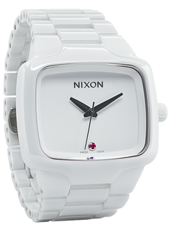 Nixon Ceramic Player Swiss Automatic White