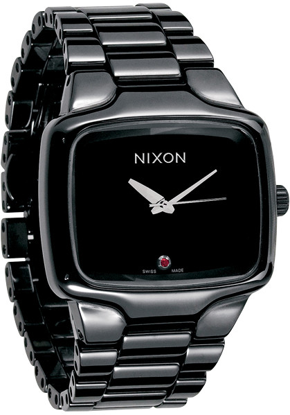 Nixon Ceramic Player Swiss Automatic Black Watches Com