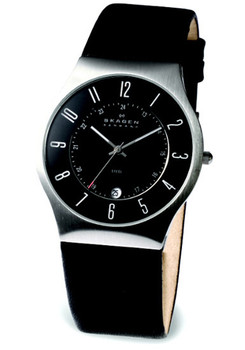 Skagen 233XXLSLB -Black Leather