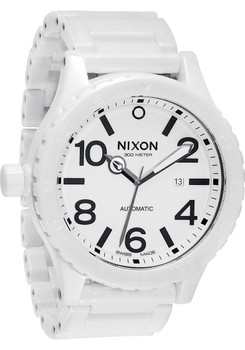 Nixon 51-30 White Ceramic Elite Swiss Automatic