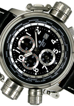 Aeromatic 1328A Cannon Worldtime Chronograph