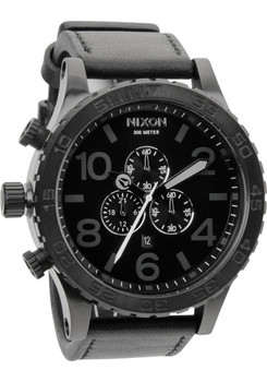 Nixon 51-30 Chrono Leather -All Black