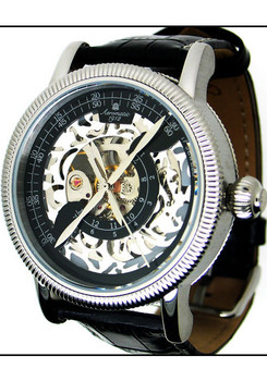 Aeromatic Mechanical Skeleton Double Phase -Black