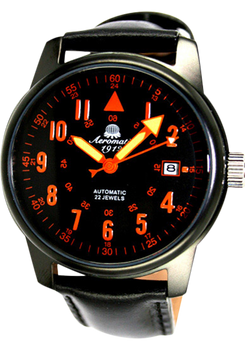 Aeromatic 329A Limited Edition Automatic Matte Black Steel