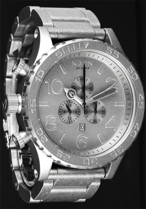Nixon 51-30 Chrono All Raw Steel