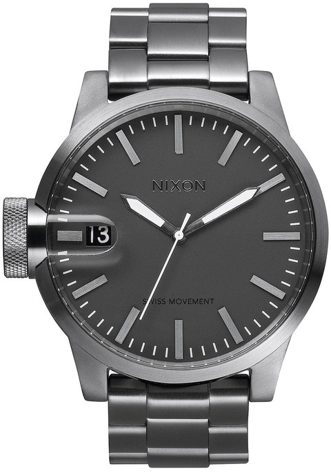 Nixon Chronicle All Gunmetal SS (A198632) front