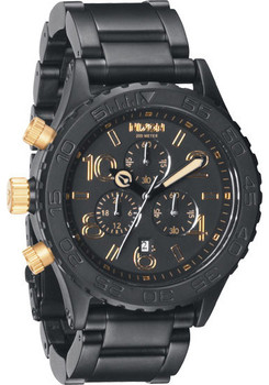 Nixon 42-20 Chrono Matte Black/Gold