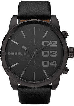 Diesel DZ4216 XXL All Black Chrono Leather