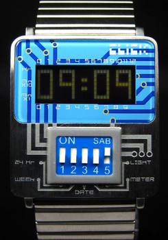 Click DIP-Switch Silver/Blue Metal