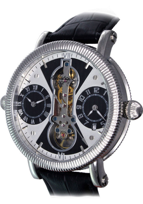 Aeromatic 385A Dual Time Zone Skeleton Automatic