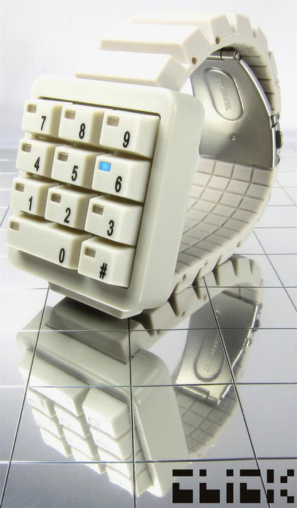Click Keypad White Hidden Time