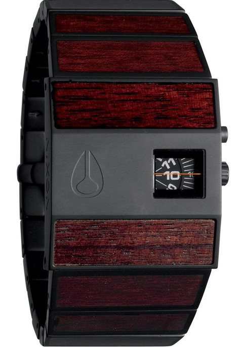 Nixon Rotolog Dark Wood Black Steel