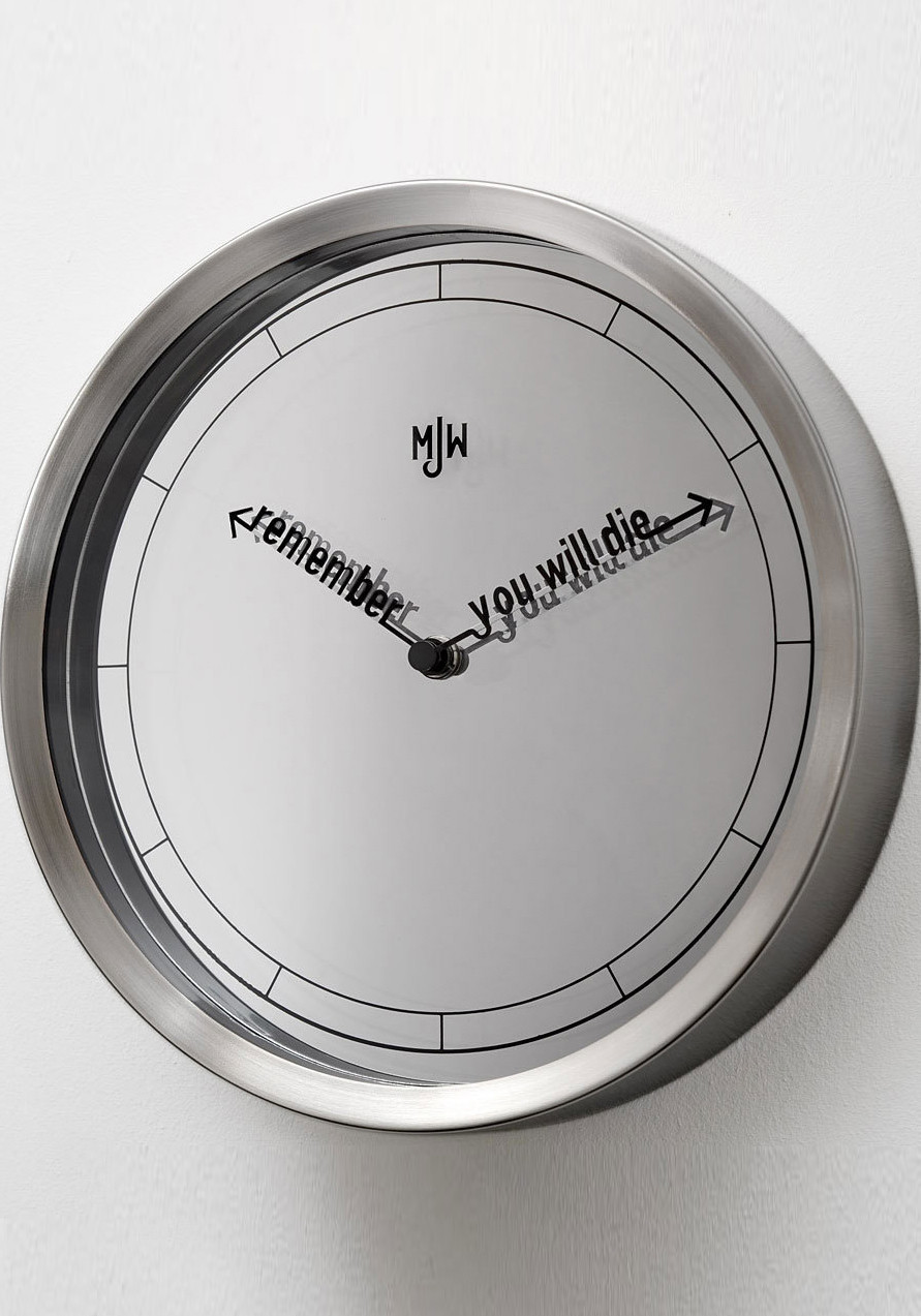modern clocks  cool clock styles from watchescom - mr jones the accurate clock