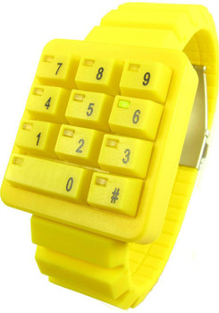 Click Keypad Hidden Time Yellow