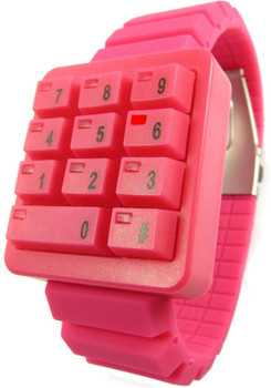 Click Keypad Hidden Time Cherry Red