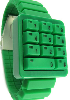 Click Keypad Hidden Time Green