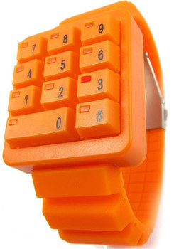 Click Keypad Hidden Time Orange