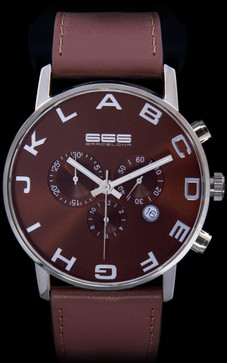 Alphabet Chrono Brown/Black