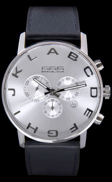 Alphabet Chrono Silver/Black