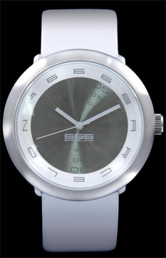 Concentric Leather Silver/White