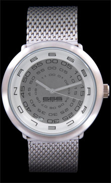 Concentric Mesh Silver/Grey