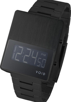 Void V01EL Digital Black Metal Strap