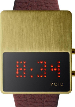 Void V01 Gold/Brown Red LED Digital