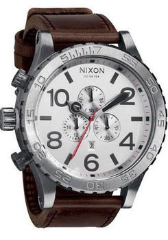 Nixon 51-30 Chrono Leather Brown/Silver