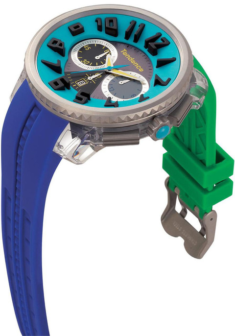 Tendence Crazy -Green and Blue Chronograph