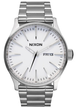 Nixon Sentry Stainless Steel/White