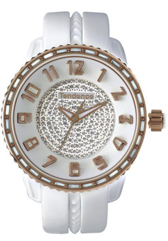 Tendence Glam Swarovski Baguette White/Rose Gold Medium