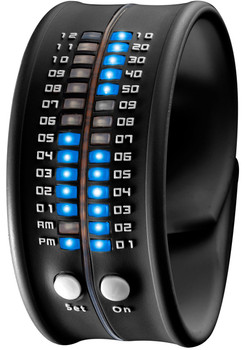 Reflex Slap LED Bracelet Watch -Black