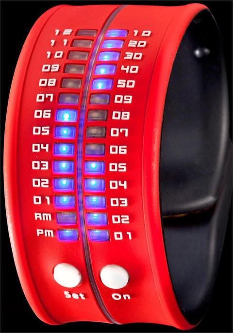 Reflex Slap LED Bracelet Watch -Red