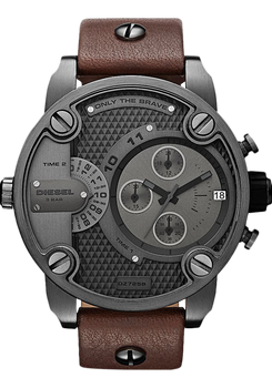 Diesel DZ7258 SBA Leather Chrono Gunmetal/Brown