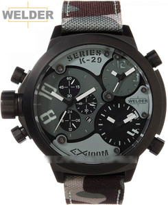 Welder K29 8004 Triple Movement Black Green