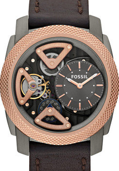 Fossil ME1122 Twist Leather Skeleton Rose Gold