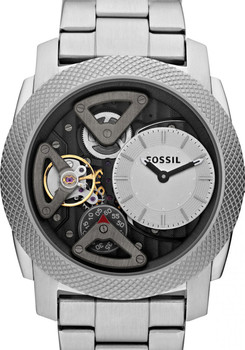 Fossil ME1120 Twist Skeleton Steel