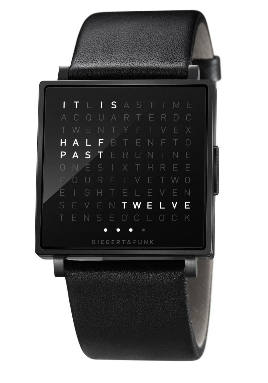 german watches the coolest watches from watches com qlocktwo w time in words black