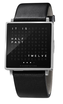 Qlocktwo W Time In Words -Brushed Steel