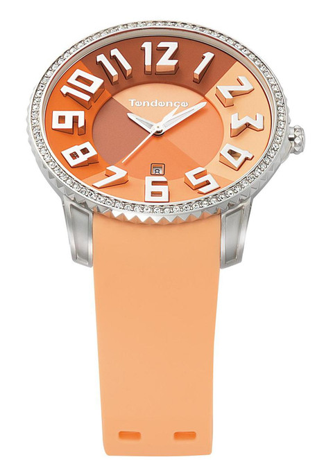 Tendence Slim Irreverent Orange Ladies Swarovski