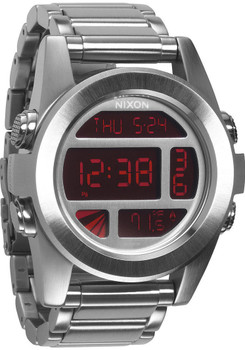 Nixon Unit SS Silver Red