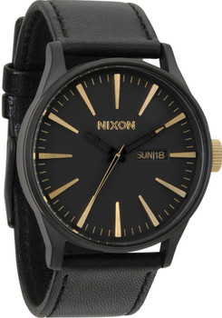 Nixon Sentry Leather Black/Gold