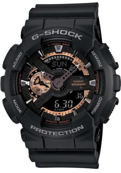 G-Shock Rose Gold Black XL Analog Digital