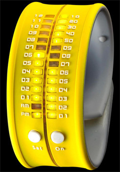Reflex Slap LED Bracelet Watch -Yellow