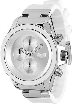 Vestal ZR2CS03 ZR2 Rubber White Silver Chronograph